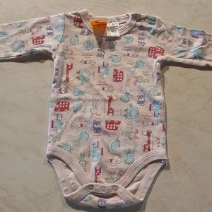 Size 00 Baby Charlie and Me long sleeve onesie